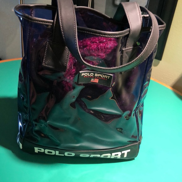 Polo Sport Blue   Black Semi Transparent Tote Bag.  M 5a85da8431a3763f8f79804e. Other Bags you may like. Ralph Lauren small tote f1bea9f270